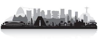 Rio de Janeiro Brazil city skyline silhouette. Rio de Janeiro Brazil city skyline vector silhouette illustration Vector Illustration