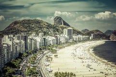 Rio de Janeiro, Brazil - Copacabana Beach Royalty Free Stock Photography
