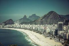 Rio de Janeiro, Brazil - Copacabana Beach Royalty Free Stock Photo