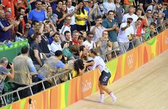 Sports/recreation. Rio De Janeiro, Brazil : Cycling Athlet while competing in Rio Olympic Velodrome, Olympic Games on August 17, 2016 stock photography