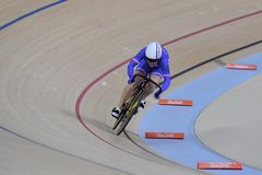 Sports/recreation. Rio De Janeiro, Brazil : Cycling Athlet while competing in Rio Olympic Velodrome, Olympic Games on August 17, 2016 royalty free stock photo