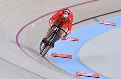 Sports/recreation. Rio De Janeiro, Brazil : Cycling Athlet while competing in Rio Olympic Velodrome, Olympic Games on August 17, 2016 stock image