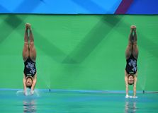 Diving in the Olympic Games 2016. Rio de Janeiro-Brazil , diving in the Olympic Games 2016 Stock Photography