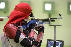 Sport shooting. Rio de Janeiro-Brazil, Event sport shooting test for the Olympic Games royalty free stock photo