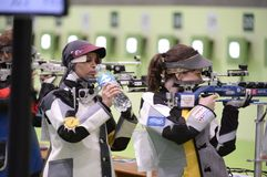 Sport shooting. Rio de Janeiro-Brazil, Event sport shooting test for the Olympic Games royalty free stock image