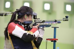 Sport shooting. Rio de Janeiro-Brazil, Event sport shooting test for the Olympic Games stock photography