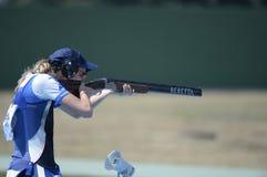 Sport shooting. Rio de Janeiro-Brazil, Event sport shooting test for the 2016 Olympic Games stock photos