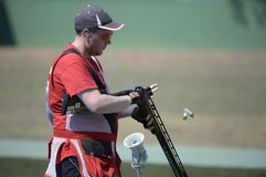 Sport shooting. Rio de Janeiro-Brazil, Event sport shooting test for the 2016 Olympic Games royalty free stock images