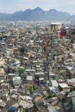 Rio de Janeiro Brazil Favela avec les funiculaires rouges Images libres de droits