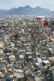 Rio de Janeiro Brazil Favela with Red Cable Cars Royalty Free Stock Images
