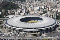 Maracanã stadium. RIO DE JANEIRO, BRAZIL - FEBRUARY 7, 2017- Aerial Photos of Maracana Stadium and its Sports Complex Stock Photos