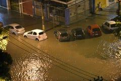 flood in the city of Rio de Janeiro Stock Photos