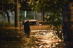 flood in the city of Rio de Janeiro Royalty Free Stock Photo