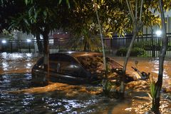 flood in the city of Rio de Janeiro Royalty Free Stock Image