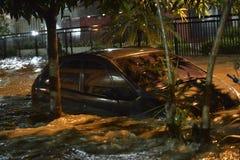 flood in the city of Rio de Janeiro Stock Images