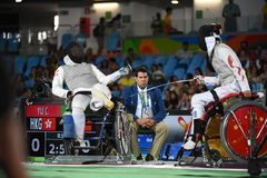 Fencing in  Paralympic games 2016 Stock Photography