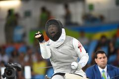 Fencing in  Paralympic games 2016 Royalty Free Stock Photos