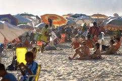 Rio de Janeiro Brazil Ipanema Beach-de Zomerscène Royalty-vrije Stock Foto's
