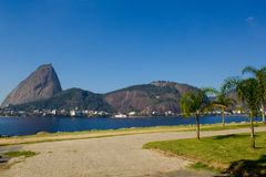 Rio de Janeiro. Brazil - July 21, 2014: Aterro do Flamengo with the Sugarloaf Mountain in the background Stock Photo