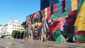 Wall. Rio de Janeiro - Brazil - kobra Royalty Free Stock Photos