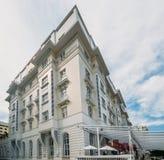 Facade of luxurious Copacabana Palace Belmond in Copacabana, Rio de Janeiro, Brazil stock photography