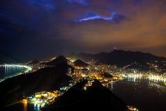 Rio de Janeiro, Brazil. Night time image of Rio de Janeiro, Brazil Stock Photography