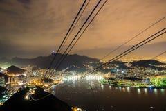 Rio de Janeiro, Brazil. Night time image of Rio de Janeiro, Brazil Stock Image