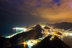 Rio de Janeiro, Brazil. Night time image of Rio de Janeiro, Brazil Royalty Free Stock Photography