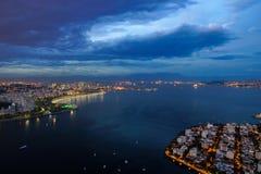 Rio de Janeiro, Brazil. Night time image of Rio de Janeiro, Brazil Royalty Free Stock Images
