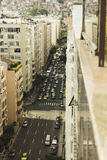 RIO DE JANEIRO, BRAZIL - NOVEMBER 2009: looking down at a busy s Royalty Free Stock Photography