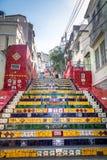 Escadaria Selaron Steps - Rio de Janeiro, Brazil royalty free stock images