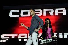 Cobra Starship - Gabe Saporte. Rio de Janeiro, Brazil, October 5, 2011. Band singer Cobra Starship, Gabe Saporta during a show at Engenhão Stadium in the city Stock Image