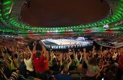 Ceremony of the Olympic Games in Maracana stadium stock photography