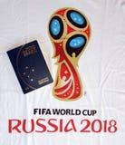 Passport to russia. Rio de Janeiro - Brazil  passport to Russia 2018 Royalty Free Stock Images