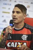 Paolo Guerrero soccer player. Rio de Janeiro- Brazil, press conference of the player of the Flamengo soccer club and the Peruvian soccer team Paolo Guerrero Stock Photography