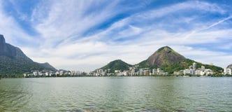 Rio de Janeiro Brazil Scenic Panorama at Lagoa. Rio de Janeiro Brazil scenic landscape panorama at Lagoa Rodrigo da Freitas lagoon Stock Image