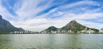 Rio de Janeiro Brazil Scenic Panorama at Lagoa Stock Image