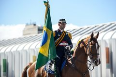 military civic parade celebrating the independence of Brazil Stock Images