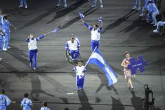 Paralympics Rio 2016. Rio de Janeiro, Brazil - september 07, 2016: opening ceremony of the Paralympics Rio 2016 at Maracana Stadium royalty free stock photography