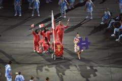 Paralympics Rio 2016. Rio de Janeiro, Brazil - september 07, 2016: opening ceremony of the Paralympics Rio 2016 at Maracana Stadium, Delegation of Bahrain stock photos