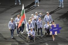 Paralympics Rio 2016. Rio de Janeiro, Brazil - september 07, 2016: opening ceremony of the Paralympics Rio 2016 at Maracana Stadium. Delegation of Bulgaria royalty free stock photos