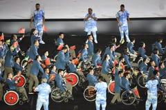 Paralympics Rio 2016. Rio de Janeiro, Brazil - september 07, 2016: opening ceremony of the Paralympics Rio 2016 at Maracana Stadium. Delegation of China royalty free stock image