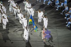 Paralympics Rio 2016. Rio de Janeiro, Brazil - september 07, 2016: opening ceremony of the Paralympics Rio 2016 at Maracana Stadium stock photos