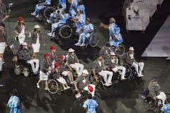Paralympics Rio 2016. Rio de Janeiro, Brazil - september 07, 2016: opening ceremony of the Paralympics Rio 2016 at Maracana Stadium royalty free stock photo