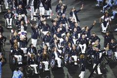 Paralympics Rio 2016. Rio de Janeiro, Brazil - september 07, 2016: opening ceremony of the Paralympics Rio 2016 at Maracana Stadium royalty free stock photos