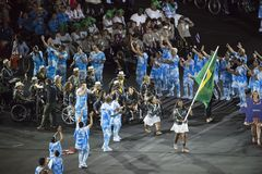 Paralympics Rio 2016. Rio de Janeiro, Brazil - september 07, 2016: opening ceremony of the Paralympics Rio 2016 at Maracana Stadium royalty free stock photos