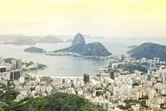 Rio de Janeiro Brazil Skyline Overlook Stockfotos