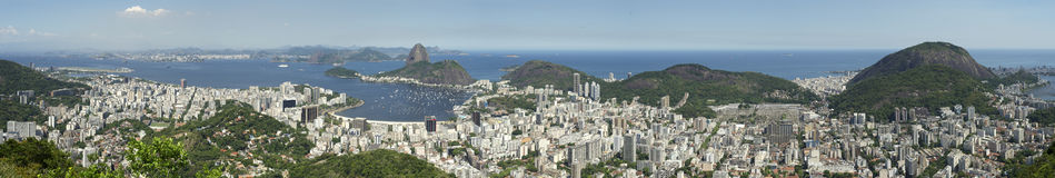 Rio de Janeiro Brazil Skyline Panorama Stock Photo