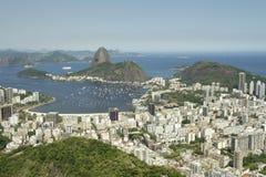 Rio de Janeiro Brazil Skyline Scenic förbiser Royaltyfria Foton