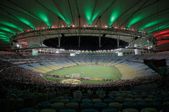Rio de Janeiro, Brazil, South America, Summer, 2014, Latin, Nighttime, People, Sport, Sports, Football, Soccer, Worldcup, M Royalty Free Stock Image